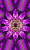 Petite image numérique d'une fleur kaléidoscope