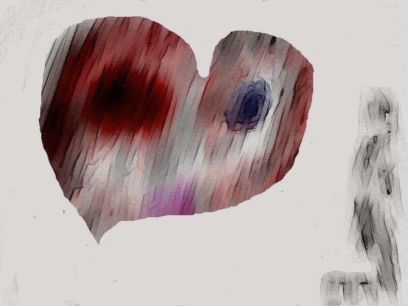 Dessin d'un nuage radioactif ayant la forme d'un coeur