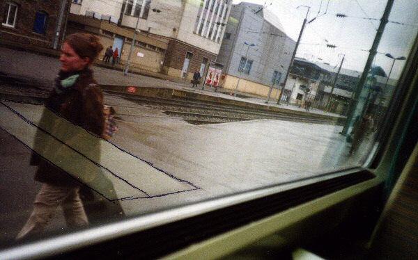 Photo dans une gare - La pluie
