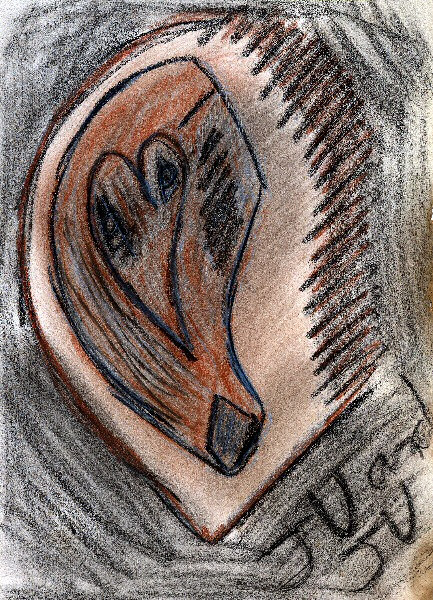 dessin abstrait - un coeur