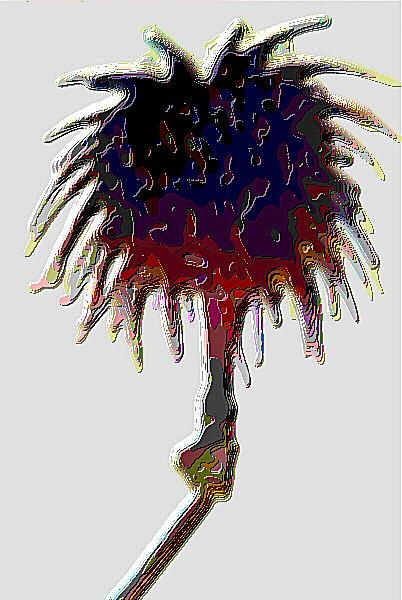 Une tâche de peinture rasta - Un dessin numérique.