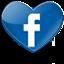 logo en forme de coeur de facebook