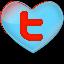 logo en forme de coeur de twitter